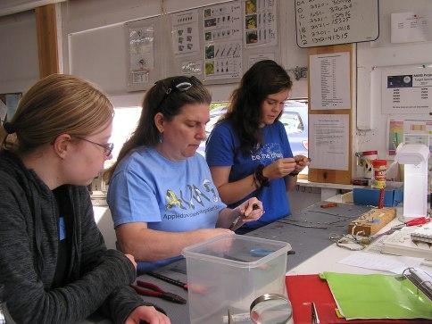 Sara Morris and students at BBBO